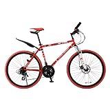 DOPPELGANGER(ドッペルギャンガー) 805 rossocross 26インチ 折りたたみクロスバイク シマノ21段変速 フロントディスクブレーキ フロントサスペンション付 リア泥除/LEDライト/ワイヤーロック標準装備