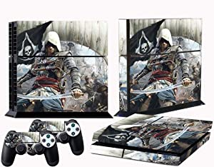 PS4 skins Assassins Creed IV Black Flag vinyl decal cover for ps 4 console