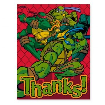 TMNT Teenage Mutant Ninja Turtles Thank You Notes with envelopes (8)