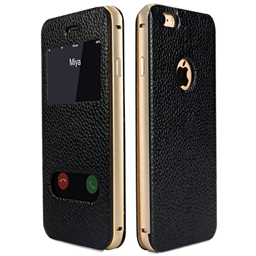 Tindon iPhone6S/6ケース 手帳型 窓付き 本革 財布型 カバー アイフォン6s/6ケース 耐衝撃カバー スタンド 超薄 スマートフォン カバー 横開き