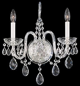"Schonbek Arlington Collection 16"" High Crystal Wall Sconce"
