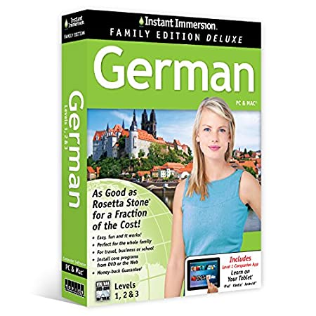 Instant Immersion German Levels 1,2 & 3 Family Edition Deluxe (Unlimited Household Use)