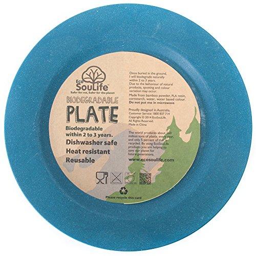 EcoSouLife (エコソーライフ) サイドプレート BW11-002 Side Plate 平皿 ネイビー/Navy
