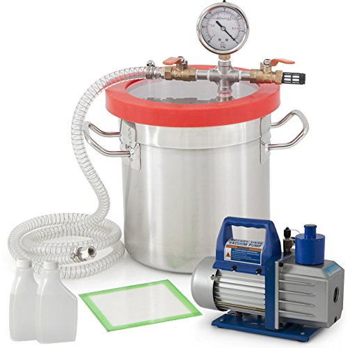 ARKSEN© Vacuum Chamber and 5 CFM Single Stage Pump, 2 Gallon, Kit (Vacuum Purge Kit compare prices)