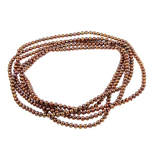 Endless Chocolate Freshwater Pearl 100-inch Necklace (6-6.5 mm)