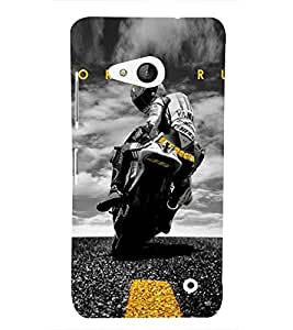 Amazing racing Bike Cute Fashion 3D Hard Polycarbonate Designer Back Case Cover for Microsoft Lumia 550