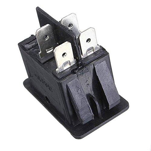 AUDEW Interruptor 12V Universal para Coche Barcos Luz de Niebla del Eje de Balancín de la Rociada LED del Tablero de Instrumentos de Control de Palanca Amarillo