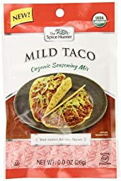 Spice Hunter Organic Mild Taco Seasoning Mix, 0.9 Ounce (Pack of 12)