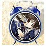 XINGQU Utawarerumono Anime Colorful Design Twin Bell Alarm Clock, Blue