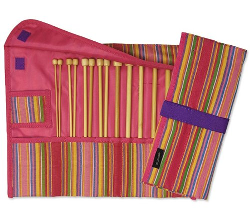 Clover Takumi Getaway 9-Inch Single Point Knitting Needle Gift Set with 7 Sizes