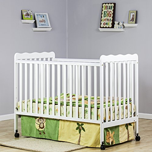 Buy Cheap Dream On Me Classic 2 in 1 Convertible Stationary Side Crib, White