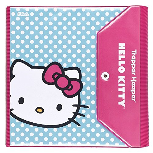 hello-kitty-trapper-keeper-15-inch-binder-by-mead-3-ring-binder-blue-dot-design-73459-by-mead