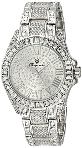 Burgmeister BM159-111 BM159-111_silber-40 - Reloj analógico de cuarzo para mujer, correa de metal color plateado