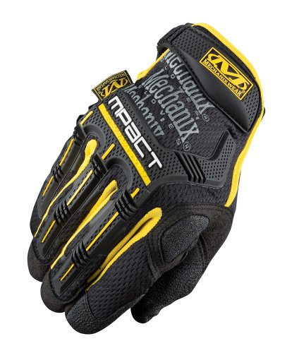 Mechanix Wear M - Pact Gloves, BLK/YELLOW, SM