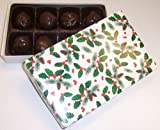 Scott's Cakes Maple Walnut Fudge Truffles 1/2 lb Holly Box