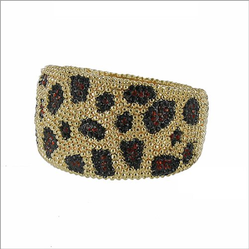 JOA Metal Stud & Stone Animal Pattern Bracelet #041011