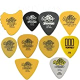 Dunlop Tortex Variety Pack - 20 x 0.73mm Guitar Picks / Plectrums In A Handy Pick Tin