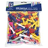 PGA Tour 200 Castle Golf Tee - Red/Yellow/Blue/Pink...
