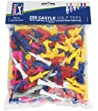 PGA Tour 200 Castle Golf Tee - Red/Yellow/Blue/Pink/Gray