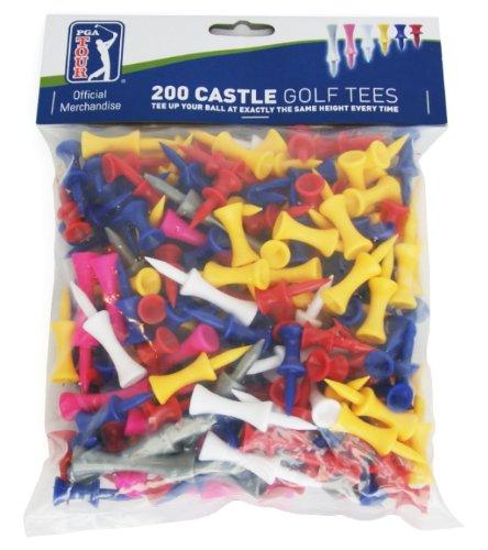 PGA TOUR  200er Pack Castle Tees, Blau und Weiss, 21,5x18,5x5,5D cm