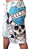 New 2011 Ed Hardy Love Kills Slowly White Board Shorts Swim Surf Trunks (33)