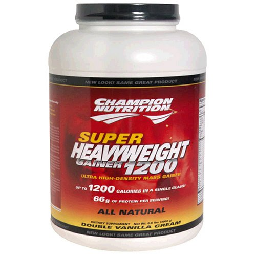 Champion Nutrition Super Heavyweight Gainer 1200 Ultra High-Density Mass Gainer, Double Vanilla Cream, 105.6-Ounce Jar