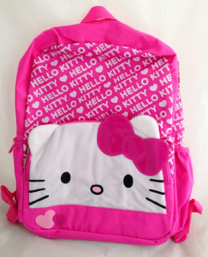 Hello Kitty 16 inch Backpack with Pink Ruffle Trim - 1