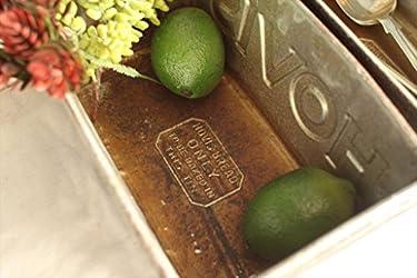 英国アンティーク◇Hovisホーヴィス社3連パン型/収納ブリキ缶(a1600067)
