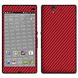 """atFoliX Designfolie """"FX-Carbon-Red"""" f�r Sony Xperia Z - ohne Displayschutzfolievon """"Designfolien@FoliX"""""""