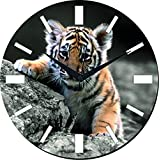 MeSleep Wild Wall Clock With Glass Top