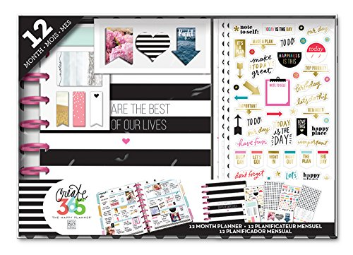 Me & my BIG ideas Best Days Happy Planner 12 Month Box Kit for Scrapbooking