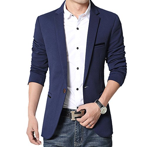 DonhoboVogue-Mens-Suit-Jacket-Business-Casual-Blazers-Sport-Coat-multicolor-US-M-Asia-XL-blue