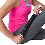 Muscle Roller Stick - The Only Muscle Roller Sold on Amazon with a Lifetime Guarantee & Bio Energy Therapeutic Spindles! - Treats Muscle Pain, Sports Injuries, Knots and Trigger Points- Use the Exercise Stick to Reduce Muscle Soreness, Stiffness & Pain!