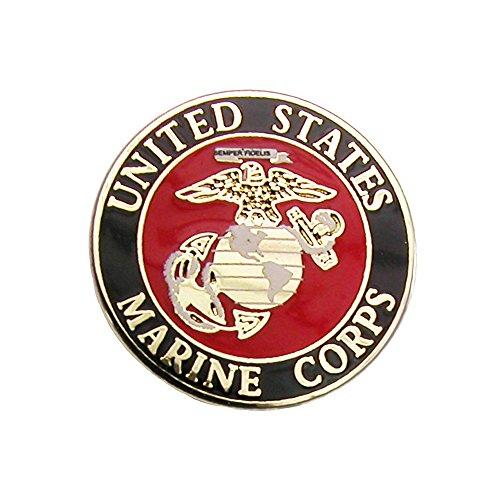 Competition Inc. United States Marine Corps Lapel Pin, Multi (United States Tie Clip compare prices)