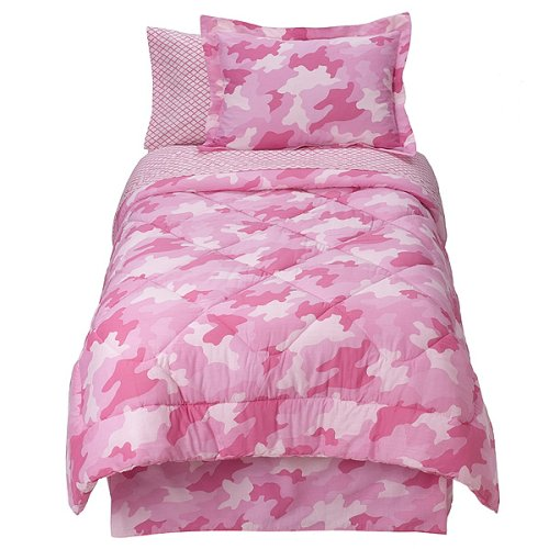 Kids' Pink Urban Camouflage Bedding