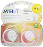 Philips AVENT BPA Free Fashion Infant Pacifier, 0-6 Months, 2 Pack