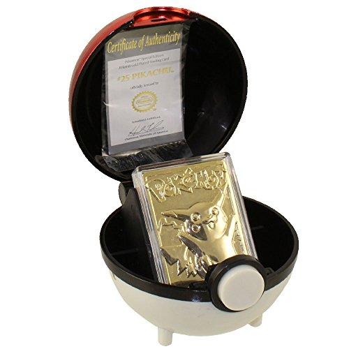 pokemon-toys-burger-king-gold-plated-trading-card-pikachu-025-pokeball-gold-card-loose