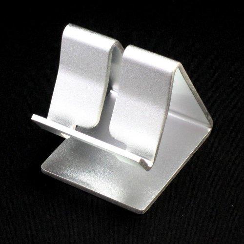 iPad/iPhone/iPod/スマートフォン用 アルミニウム製 スタンド シルバー(付録はカラーDockケーブル)