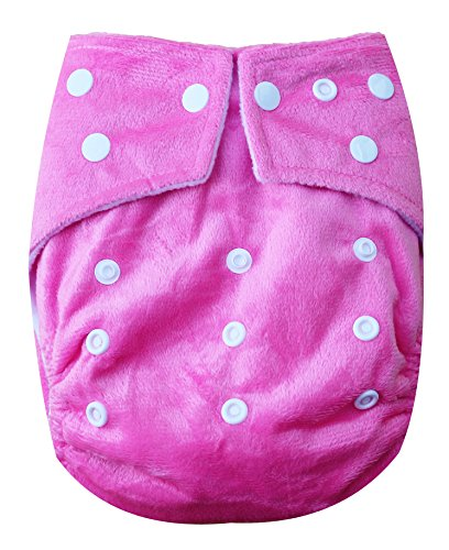 See Diapers One Size Minky Baby Cloth Diaper 2 Microfiber Inserts Pink - 1
