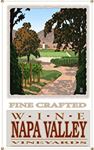 Northwest Art Mall MR-1513 Napa Valley California Vineyards 11 by 17-Inch Print by Mike Rangner