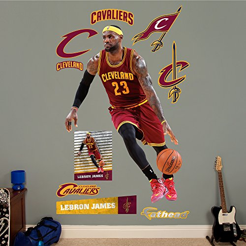 NBA Cleveland Cavaliers LeBron James No 23 Fathead Real Big Decals, 51