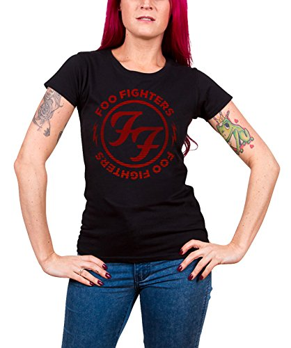 Foo Fighters - Top - Maniche corte  - Donna nero Medium