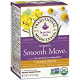 Traditional Medicinals Organic Smooth Move Chamomile Tea, 16 Tea Bags (Pack of 6)