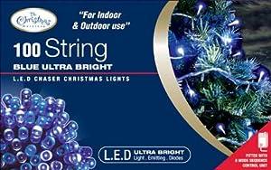 Benross The Christmas Lights 100 Ultra Bright LED String Chaser Lights - Blue