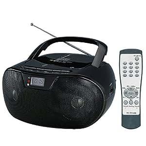 WINTECH USB/SD再生対応 リモコン付きCDラジオ(FMワイドバンド対応)  ブラック MP3対応 KC-151USB