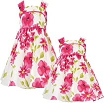 Size-6 RRE-53132E FUCHSIA-PINK GREEN IVORY WOVEN FLORAL PRINT Special Occasion Flower Girl Easter Party Dress,E753132 Rare Editions GIRLS