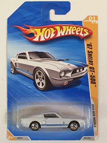 2010 HOT WHEELS NEW MODELS 01/44 WHITE '67 SHELBY GT-500 - 1