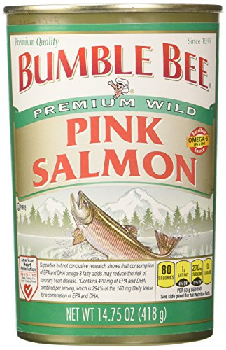 Bumble Bee Salmon Pink Canned, 14.75-Ounce Cans (Pack of 4) (Bumble Bee Canned Salmon compare prices)