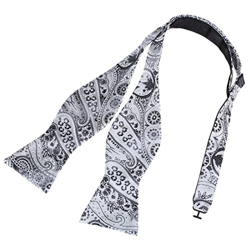 Dba7B15E Silver Whole Sale Presents Patterned Self-Tied Bowtie Gentlemen Gift Idea Microfiber Youth Polyster Self Bow Tie By Dan Smith