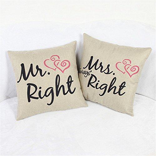 luxbon-set-di-2-copricuscini-con-divrtente-scritta-in-inglese-mr-right-e-mrs-always-right-per-divano